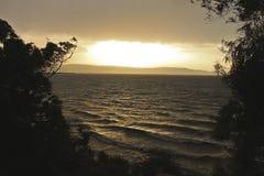 灼烧的湖 免版税图库摄影