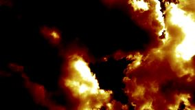 灼烧的火云彩喜欢恶魔地狱 影视素材