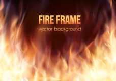 灼烧的火框架 传染媒介火热的背景 免版税库存照片