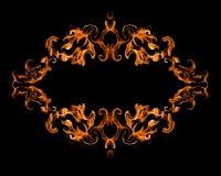 灼烧的火框架 免版税图库摄影