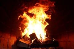 灼烧的火火焰的长舌  图库摄影