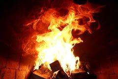 灼烧的火火焰的长舌  库存图片
