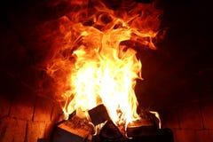 灼烧的火火焰的长舌  免版税图库摄影