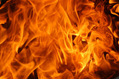 灼烧的火焰纹理 库存图片