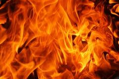 灼烧的火焰纹理 免版税库存图片