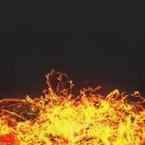 灼烧的火焰 免版税库存图片
