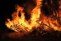 灼烧的火 图库摄影