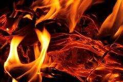 灼烧的炭渣 图库摄影