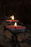 灼烧的烛台 免版税图库摄影