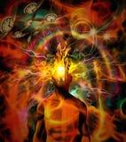 灼烧的知觉 向量例证