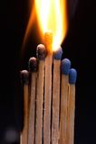 灼烧的符合 图库摄影