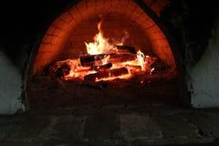 灼烧的篝火 库存图片