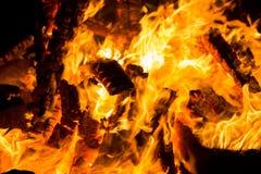 灼烧的篝火 免版税库存照片