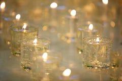 灼烧的纪念蜡烛 库存图片