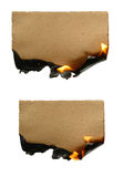 灼烧的纸张 免版税图库摄影