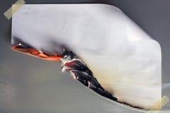灼烧的纸张 库存照片