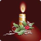 灼烧的蜡烛圣诞节 免版税库存图片