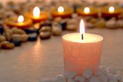 灼烧的蜡烛纪念品 免版税库存图片