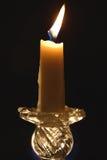 灼烧的蜡烛练习曲 免版税库存照片