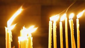 灼烧的蜡烛 影视素材