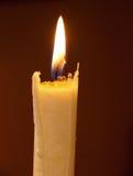 灼烧的蜡烛 库存照片