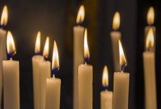 灼烧的蜡烛 图库摄影