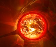 灼烧的行星 免版税库存图片