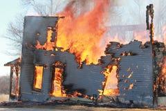 灼烧的议院 库存图片