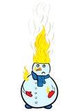 灼烧的雪人 图库摄影