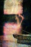 灼烧的香火 库存图片
