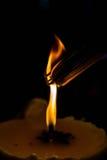 灼烧的香火 库存照片