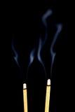 灼烧的香火 免版税库存照片