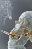 灼烧的香烟头骨 库存图片