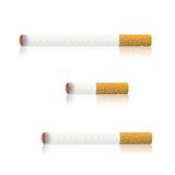 灼烧的香烟 免版税图库摄影