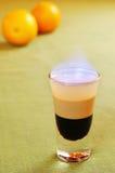 灼烧的鸡尾酒B-52 库存图片