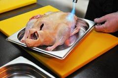 灼烧的鸭子 图库摄影