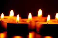 灼烧的candels 图库摄影
