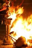 灼烧的falla火巴伦西亚 免版税图库摄影