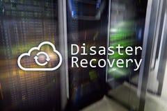 灾后重建 数据预防损失的措施 背景的服务器室 免版税库存图片