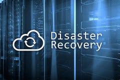 灾后重建 数据预防损失的措施 背景的服务器室 免版税库存照片