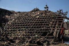 灾害在万丹省 库存照片