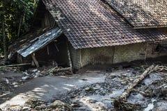 灾害在万丹省 免版税库存图片