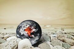 灾害地球 免版税库存图片
