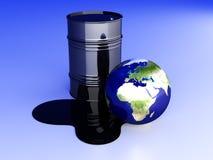 灾害欧洲石油 免版税图库摄影