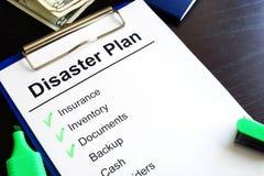 灾害计划 免版税库存照片