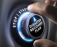 灾难恢复计划- DRP 免版税库存照片