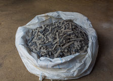 炉渣涨潮在焊接以后从淹没弧焊接过程 库存图片