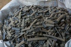 炉渣涨潮在焊接以后从淹没弧焊接过程 免版税库存照片