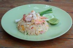炒饭,泰国烹调 免版税图库摄影