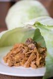 炖煮的食物圆白菜用香肠 免版税库存图片